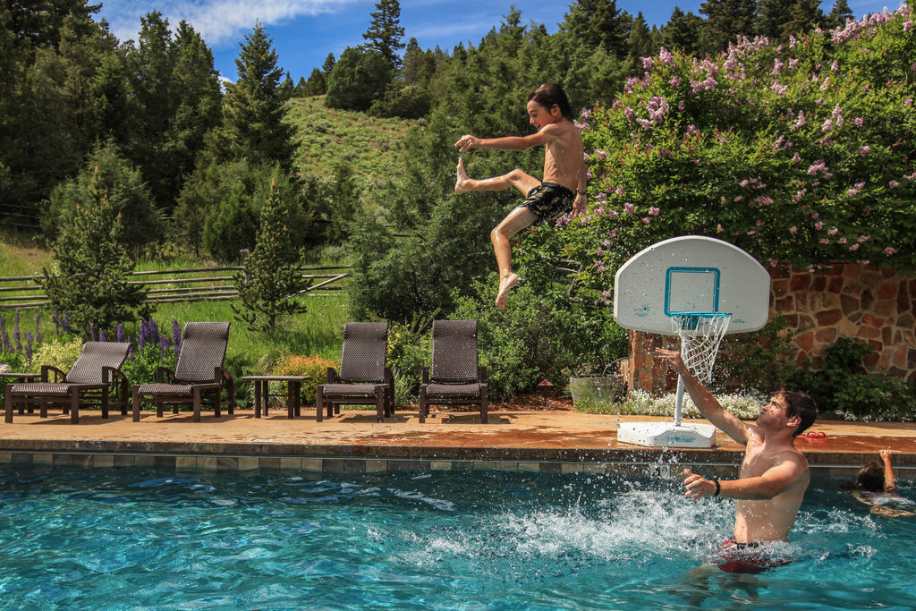 mountain sky guest ranch come live work play in yellowstone kids program fun at the pool