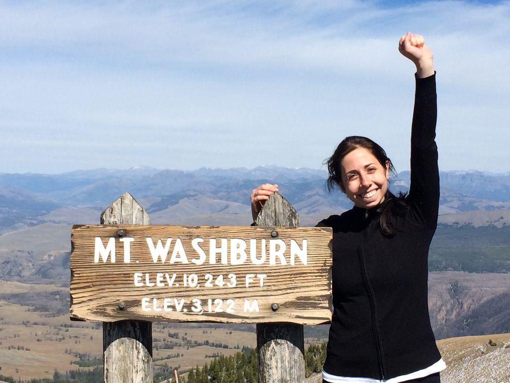 Climb mt washburn ynp