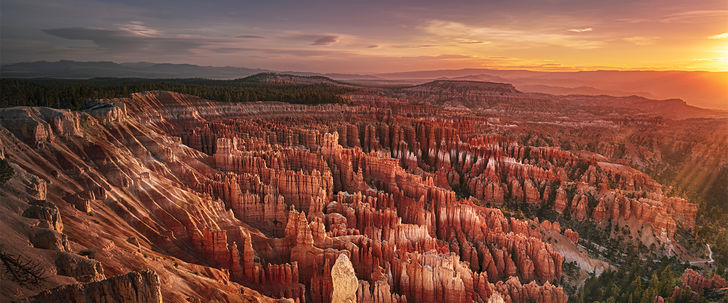 Hero bryce canyon at dawn